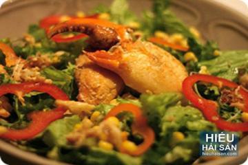 Salad càng cua rau củ
