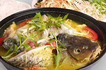 Cá chép giòn nấu canh chua ngọt