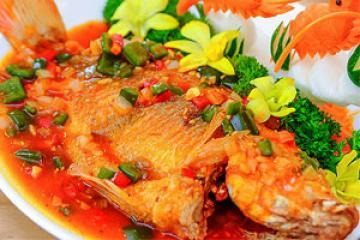 cá chép giòn nấu sốt cà chua ngọt ngất ngây